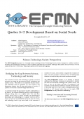 Foresight Brief No. 047 Quebec S+T Development Based on Social Needs