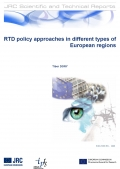 RTD policy approaches in different types of European regions