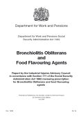 Bronchiolitis Obliterans and Food Flavouring Agents